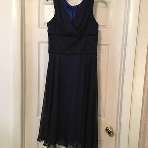 Collection Black Chiffon Evening Dress Size 12